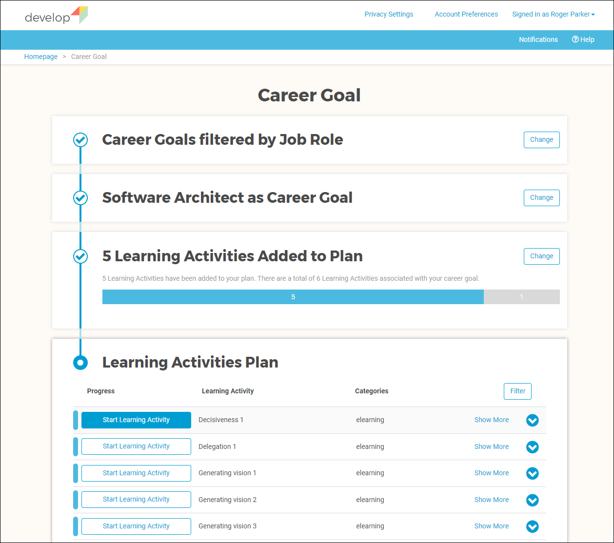 Learning Activities Plan